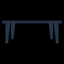 Plantilla de perfil de mesa de comedor