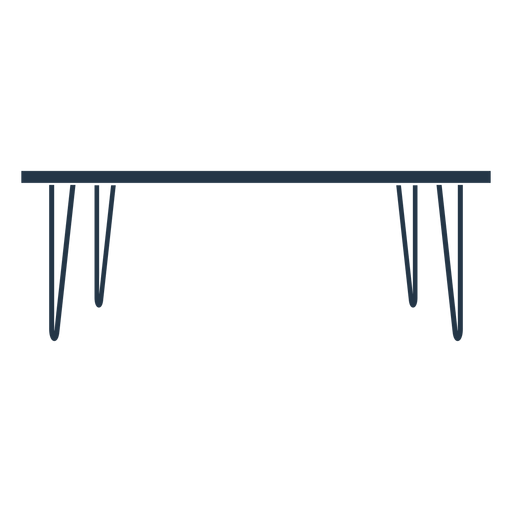 Dining table profile stencil Transparent PNG