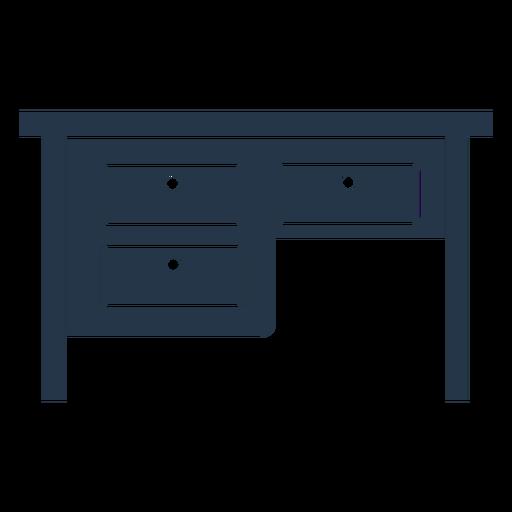 Drawer work desk stencil profile