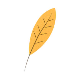 Elongated leaf brown textured illustration