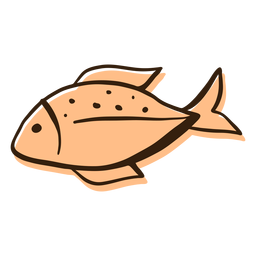Fish profile hand drawn