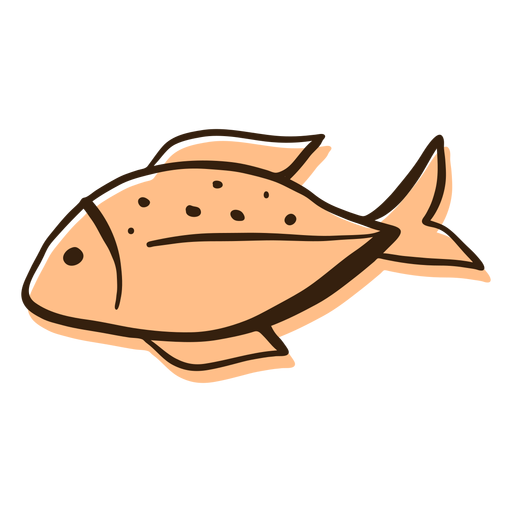 Fish profile hand drawn Transparent PNG