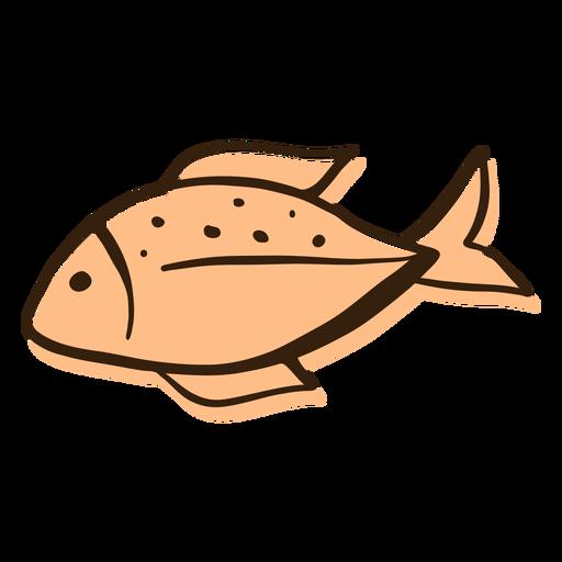 Perfil de peixe desenhado à mão Transparent PNG