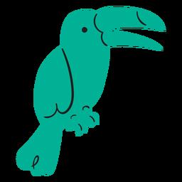 Flat green parrot