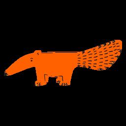 Flat orange ant eater