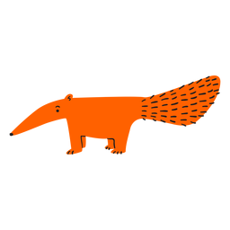 Hormiguero plano naranja