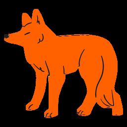 Flat orange fox