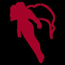 Fliegender Supergirl-Schlag rot