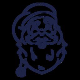 Vista frontal vintage trazo de cabeza de santa