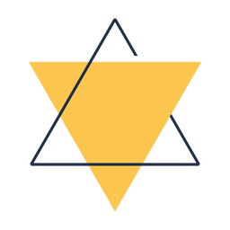 Geometric triangle star david illustration