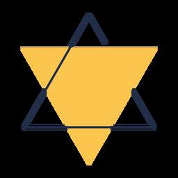 Geometrische Dreieck Stern David Illustration