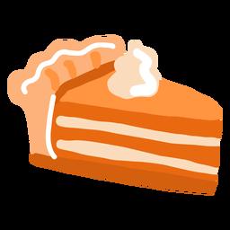 Pedazo de pastel de calabaza brillante