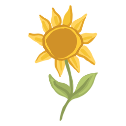 Glossy sunflower illustration