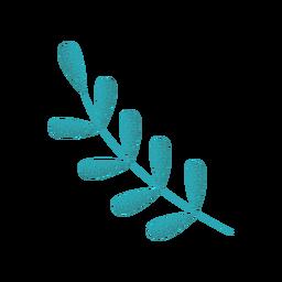 Ilustración de rama de alero verde con textura