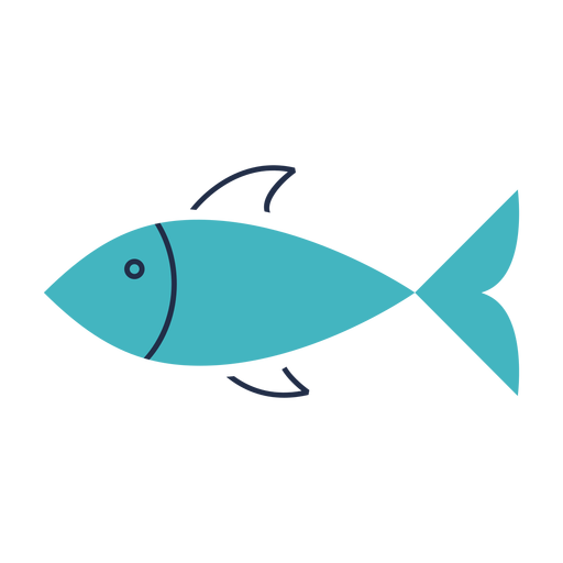 Green fish flat illustration Transparent PNG