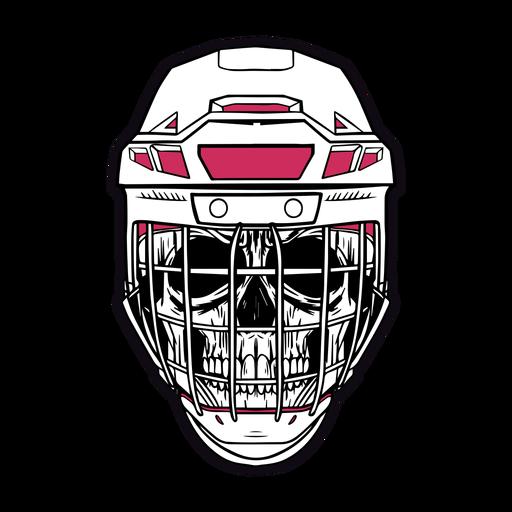 Hand drawn detailed skull helmet Transparent PNG