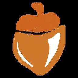 Hand drawn glossy acorn