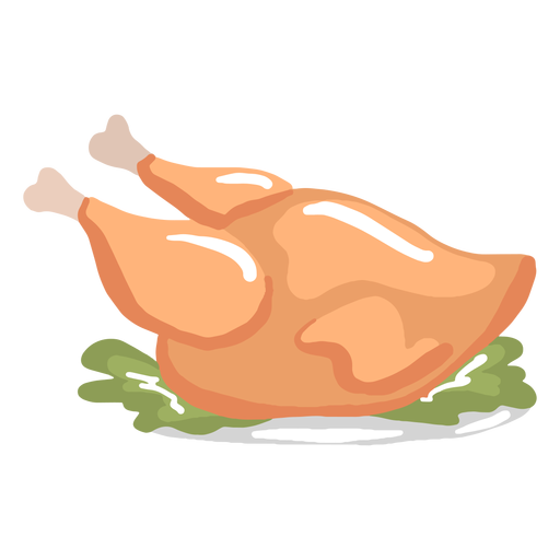 Hand drawn glossy cooked turkey dinner Transparent PNG