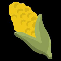 Mazorca de maíz brillante dibujada a mano