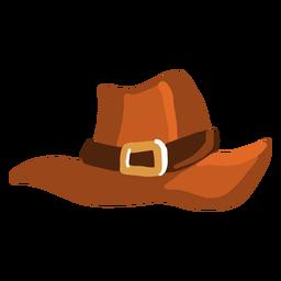 Sombrero de peregrino brillante dibujado a mano