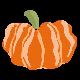 Hand drawn glossy pumpkin