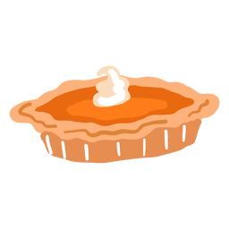 Hand drawn glossy pumpkin pie