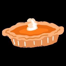 Torta de abóbora brilhante desenhada de mão