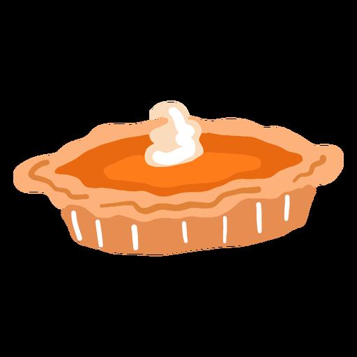 Hand drawn glossy pumpkin pie