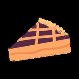 Dibujado a mano pieza de pastel con textura