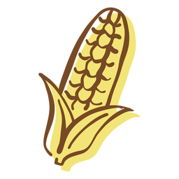 Hand drawn stroke corncob