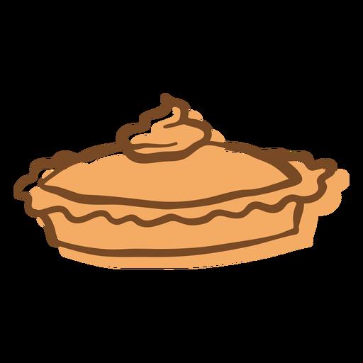 Hand Drawn Stroke Pie Whipped Cream