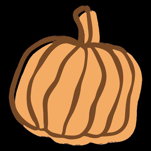 Hand drawn stroke pumpkin