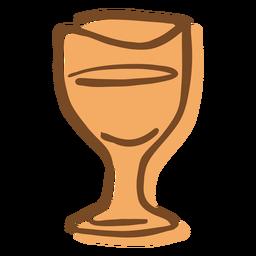 Copo de vinho de traçado de mão desenhada