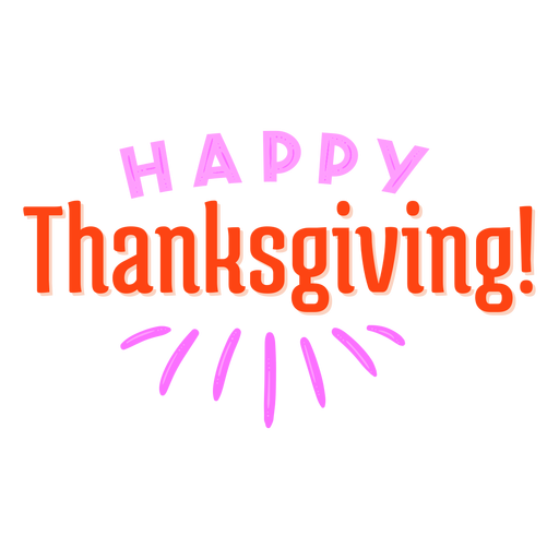Happy thanksgiving lettering Transparent PNG