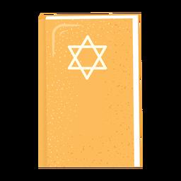 Biblia hebrea estrella david icono de libro plano