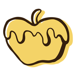 Honey apple hand drawn