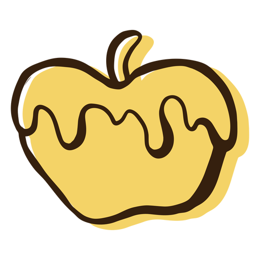 Honey apple hand drawn Transparent PNG