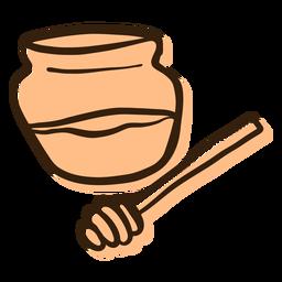 Dibujado a mano tarro de miel