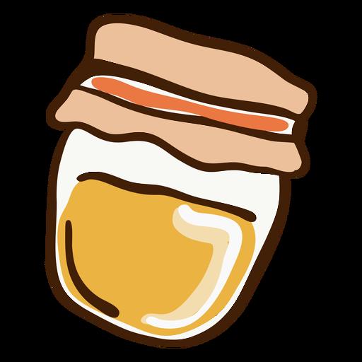 Dibujado a mano tarro de miel Transparent PNG