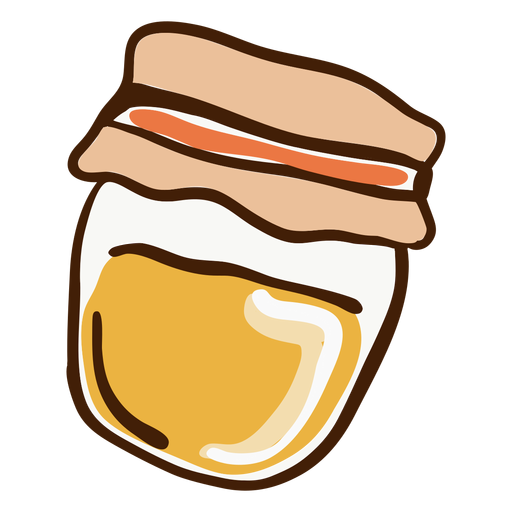 Honey jar hand drawn Transparent PNG