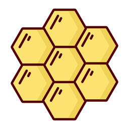 Honeycomb flat icon illustration