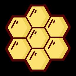 Ilustración de icono plano de panal