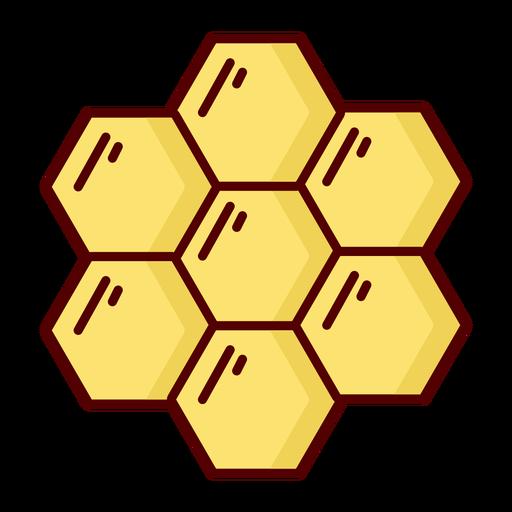 Honeycomb flat icon illustration Transparent PNG