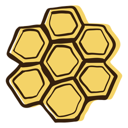 Honeycomb hand drawn