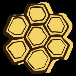 Nido de abeja dibujado a mano