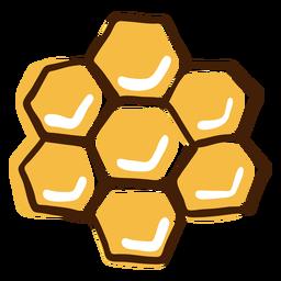 Favo de mel destaca mão desenhada