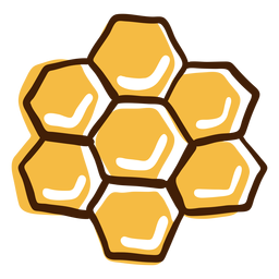Honeycomb highlights hand drawn