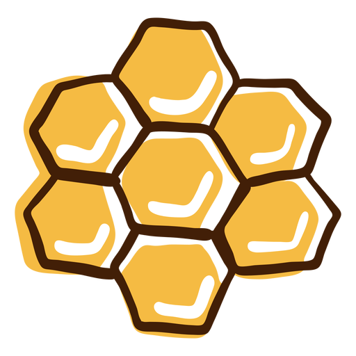 Honeycomb highlights hand drawn Transparent PNG