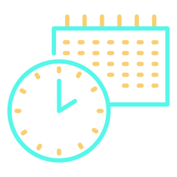Icon clock calendar stroke