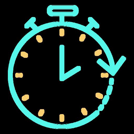 Icon stopwatch circular arrow stroke Transparent PNG